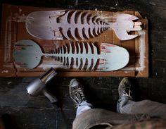 Skate Bones- to hang on wall as deco Skateboard Furniture, Surfboard Skateboard, Skateboard Design, Kids Room Accessories, Wood Fish, Skate Art, Skate Decks, Skate Style, Weird Shapes