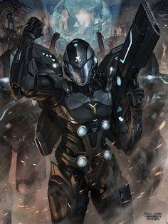Hot Concept Art by Chris Ng (Galaxy Saga) Character Concept, Character Art, Character Design, Character Inspiration, Daily Inspiration, Futuristic Armour, Futuristic Art, Armor Concept, Concept Art