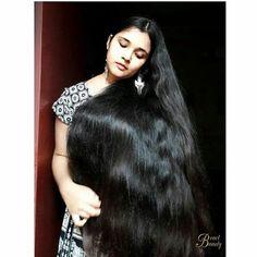 Image may contain: one or more people Long Silky Hair, Long Dark Hair, Super Long Hair, Big Hair, Bun Hairstyles For Long Hair, Braids For Long Hair, Indian Hairstyles, Indian Hair Cuts, Indian Long Hair Braid