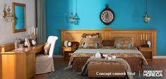 Un weekend în stil regal petrecut într-un hotel sau o pensiune de la poalele munților poate fi găzduit doar de o cameră pe măsură. Conceptul Tirol a fost special creat pentru turiștii care se așteaptă să găsească în camera de hotel influențe rustice elegante.