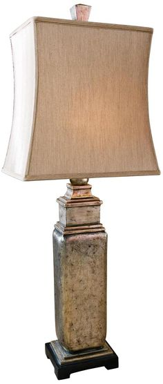 Ambience collection bronze lace pot table lamp 161 for for Distressed silver floor lamp