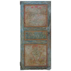 19th Century Italian Painted Door | From a unique collection of antique and modern doors and gates at https://www.1stdibs.com/furniture/building-garden/doors-gates/