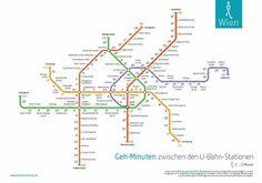 U-Bahn Stationen zu Fuß Wien