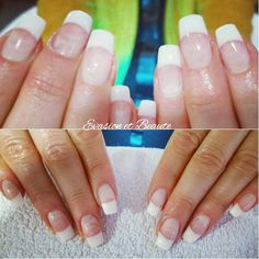 Remplissage gel + french  by opi French nail, opi, extrawhite, extralarge