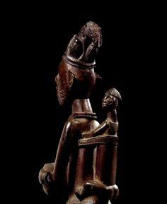 Yoruba Female Bowl-Bearing Figure, Nigeria