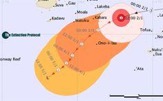 Cyclone Ula threatens southeastern Fiji