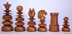 Antique English Chess Set