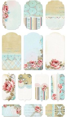 Free shabby chic / vintage and French inspired printables Vintage Tags, Vintage Labels, Vintage Prints, Vintage Diy, Vintage Ideas, Shabby Vintage, Vintage Flowers, Etiquette Vintage, Shabby Chic