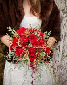 winter wedding bridal bouquet: Genevieve Leiper