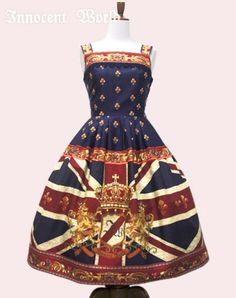Union Jack Navy Long JSK