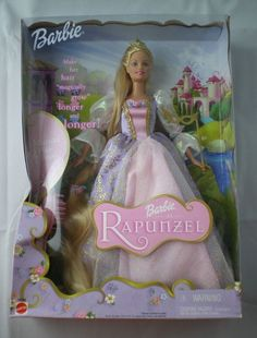 Barbie Collector Doll 2001 Barbie as Rapunzel with Musical Hair Brush 55532 -NIB… Barbie Box, Barbie Dolls For Sale, Vintage Barbie Dolls, Rapunzel Barbie, Musical Hair, Accessoires Barbie, Barbie Movies, Disney Movies, Realistic Baby Dolls