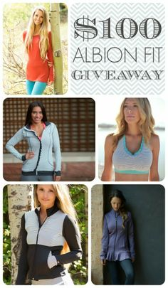 Albion Fit $100 Giveaway - start your collection of the most comfortable and stylish fitness wear!