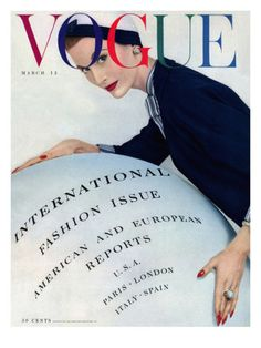 Vogue Cover - March 1953 Poster Print by Erwin Blumenfeld at the Condé Nast Collection