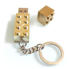 gold lego usb drive