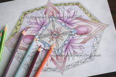 Coloring Lotus Mandala Coloring Page Printable by ColorMeArtStudio