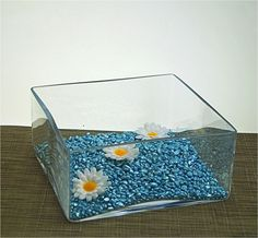 Glass handmade planter square vase #candle #holder #fruit bowl 10 cm high lana,  View more on the LINK: http://www.zeppy.io/product/gb/2/162265098476/