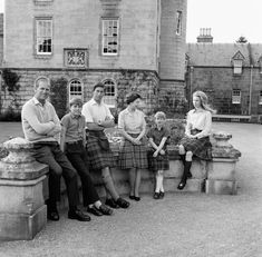 (L-R) The Duke of Edinburgh, Prince Andrew, Prince Charles, the Queen, Prince Edward and Princess Anne in front of the Queen's beloved Balmoral Castle in Scotland during the Royal Family's summer holiday in Hm The Queen, Royal Queen, Her Majesty The Queen, Save The Queen, Elizabeth Philip, Queen Elizabeth Ii, Prince Andrew, Prince Edward, Prince Charles