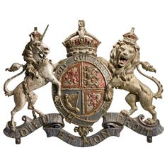 Scottish Version of the Royal Arms of Hanoverians, 1810 –1816 | From a unique collection of antique and modern wall-mounted sculptures at https://www.1stdibs.com/furniture/wall-decorations/wall-mounted-sculptures/