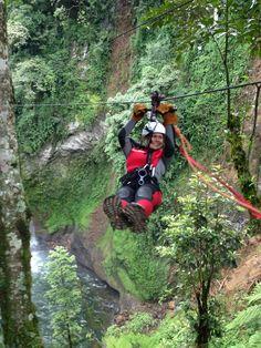 zip-lining a highlight of ATMEX Xico Canyoning Adventure  #Xico, #ATMEX, #zipline