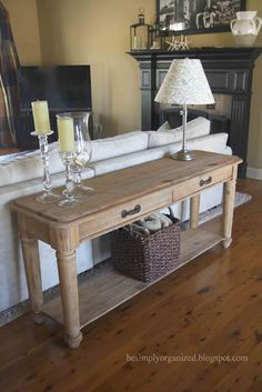 Sideboard Table Behind Couch