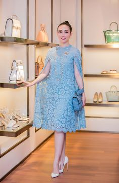 Luxury jacquard dress with embroidery 'Morning sky'. Online shopping on My Livemaster. Dress Brukat, Batik Dress, Chic Dress, Lace Dress, Jacquard Dress, Simple Dresses, Cute Dresses, Vintage Dresses, Beautiful Dresses