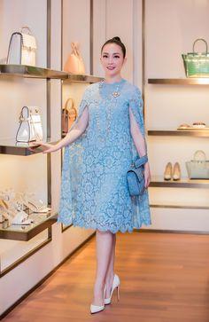 f1e6348d870 Dresses handmade. Luxury jacquard dress with embroidery  Morning sky .  KVITKA. Online