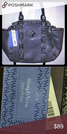 Simply Vera Vera Wang Tote Handbag NWT Vera Wang Bags Totes