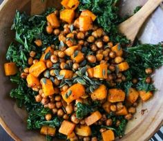 Spicy Chipotle Butternut Squash & Chickpea Salad