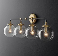 Bistro Globe Bath Sconce 4 -Light