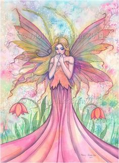 Wildflower Fairy Fantasy Original Fine Art by MollyHarrisonArt, via Etsy.