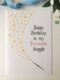 #Personalised harry #potter #birthday card friend anniversary fantastic beasts, View more on the LINK: http://www.zeppy.io/product/gb/2/291677835882/