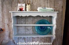 Vintage Cupboards – antique shabby chic white French kitchen rack – a unique product by elisabethUNDjohannes on DaWanda