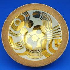 Lisa Larson (1964) Unique golden bowl
