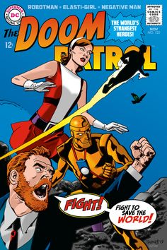Comic book colouring by Scott Dutton - The Doom Patrol Covers - Chris Samnee, Mike Mignola, & Kevin Nowlan
