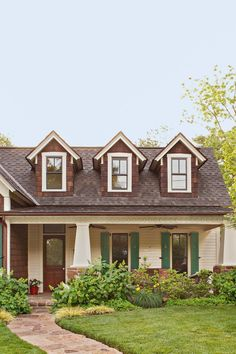 Getting ready to paint your home's exterior? Find the perfect exterior color combination with these tips on choosing house paint colors #exteriorpaintcolorsforhouse #homeremodel #colorschemes #bhg Exterior Color Combinations, Exterior Color Schemes, Exterior Paint Colors For House, Paint Colors For Home, Outdoor Paint, Entry Doors, White Paints, House Painting, Curb Appeal