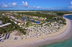 Ocean Blue & Sand all inclusive resort in Punta Cana. It's probably the only resort that has a bowling alley! FUN.