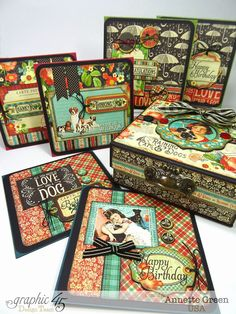 Annette's Creative Journey: Handmade Gift Idea: 6-Card Set with Box for the Pet Lover