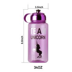 Sports Unicorn Water Bottle Large Capacity BPAFree Fast Water Leak Proof Drinking Bottles Eco Friendly for Outdoor Training Sports Yoga Camping Biking >>> Check this awesome product by going to the link at the image. (This is an affiliate link) Unicorn Water Bottle, Bike Water Bottle, Bpa Free Water Bottles, Home Goods Decor, Water Flow, Drinkware, Drink Bottles, Drinking, Tea