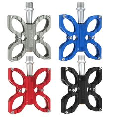 1 Pair Mountain Bike Bicycle Pedals Aluminum alloy 4Colors Big Foot Road Bike Bearing Buttery Shape Pedals Bike Parts New Design