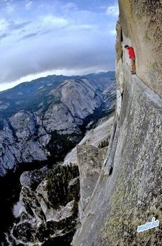 Takes my breath away!- so wish I'd have the nerve to stand there!!! How awesome it must look from his view!