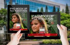 Van Bus station ipad mockup download 1