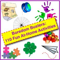 Boredom Busters: 110 Fun At-Home Activities for Families & Kids - Family…