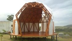 Ultimo Domo Instalado - OneDrive Yurt Home, Geodesic Dome Homes, Dome House, Pretty Room, Beautiful Architecture, Glamping, Outdoor Gear, Gazebo, Tent