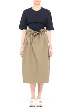 Free shipping and returns on Stella McCartney Paperbag Waist Skirt at Nordstrom.com. Pre-order this style from the Spring 2017 collection! Limited quantities. Ships as soon as available. You'll be charged only when your item ships.An athletic cinch cord draws close the dramatic paperbag waist of a perfectly oversized pencil skirt done in classic khaki with a thoroughly modern twist.
