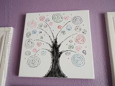 Swirl Tree on Canvas by @Amanda Formaro Crafts by Amanda