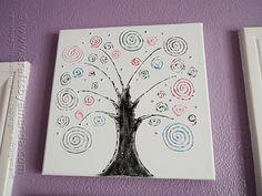 Swirl Tree on Canvas by @Amanda Snelson Formaro Crafts by Amanda