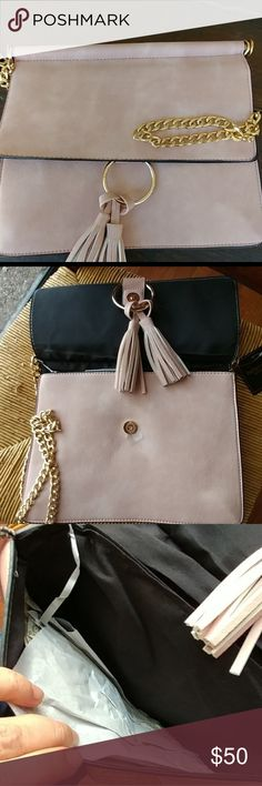 Blush crossbody bag You need this in your closet Vegan Polyester nside You can hide the chain and wear it as a clutch. Medium size Bags Crossbody Bags