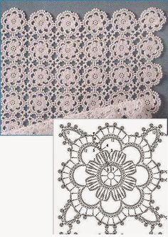 Delicate Crochet Motif - Free Crochet Diagram - (ivelisefeitoamao) by carlani Crochet Bolero, Crochet Motifs, Crochet Blocks, Crochet Diagram, Crochet Stitches Patterns, Crochet Squares, Crochet Chart, Thread Crochet, Crochet Granny