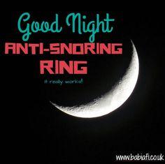 Good Night Anti-Snoring Ring - it really works!