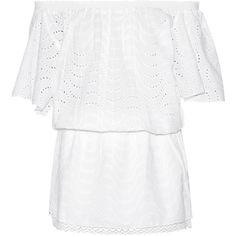 Melissa Odabash - Michea Broderie Anglaise Cotton Coverup ($130) ❤ liked on Polyvore featuring swimwear, cover-ups, white, swimsuits bikinis, white beach cover up, bikini swimsuit, cotton beach cover up and bikini cover ups
